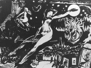 Полет Маргариты. Рисунок Бориса Тарантула.